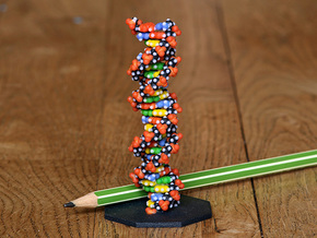 DNA Molecule Standing Standard in Full Color Sandstone