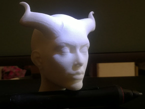 Beautiful Devil face in White Natural Versatile Plastic