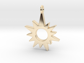 Sunburst Pendant in 14k Gold Plated Brass