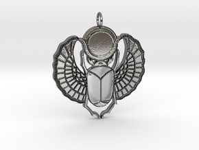Winged Skull in Polished Silver