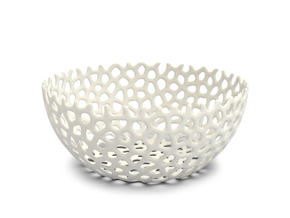 Fruit Bowl cm 20 in White Natural Versatile Plastic