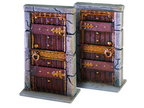 "HeroQuest  ""Kellar´s Keep"" Door - open version in White Processed Versatile Plastic"