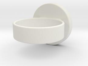 Zelda OoT Spirit Ring in White Natural Versatile Plastic