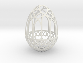 Gothic Egg Shell 3 in White Natural Versatile Plastic