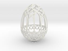 Gothic Egg Shell 3 in White Natural Versatile Plastic