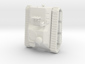 22TripleE Tankette 15mm X1 in White Natural Versatile Plastic