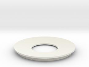 Lieberkuehn Reflector 58mm Dia. 76.2mm WD in White Natural Versatile Plastic