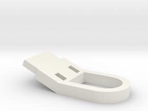 Tab 3 in White Natural Versatile Plastic