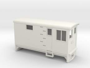 HOn30 Electric Boxcab Locomotive (Kate 1) in White Natural Versatile Plastic