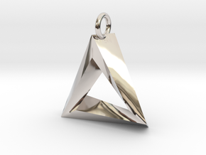 Penrose Triangle Pendant in Platinum
