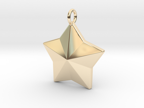 Geometric Star Pendant in 14K Yellow Gold