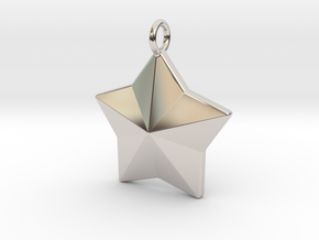 Geometric Star Pendant in Platinum
