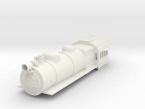 PRR E6 S Scale Boiler and Cab Shell in White Strong & Flexible