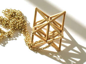 Stellated Octahedron pendant in Raw Bronze