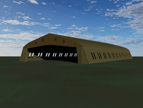Bessonneau Hangar, 12-Bay in White Strong & Flexible: 1:144