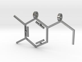Dopamine Pendant in Natural Silver