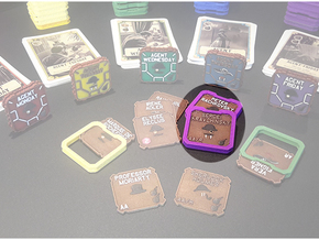 A.S.I.E. Agent Holders (8 pcs) in Purple Processed Versatile Plastic