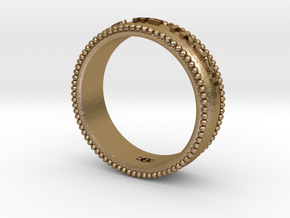 In God We Trust Band size 8.5 in Polished Gold Steel