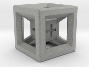 Fudge Dice Hypercube 1.5cm (D3) in Metallic Plastic