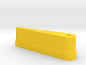 "CSF#5 - 3 1/8"" Long - Pinball Flipper Bat in Yellow Processed Versatile Plastic"