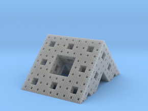 Menger roof (4 iterations) in Smooth Fine Detail Plastic
