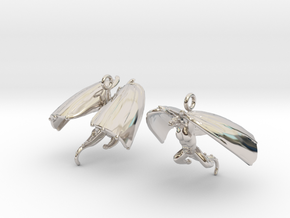 Draco Earring 1 in Rhodium Plated Brass