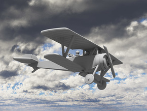 Nieuport 12 (Beardmore) in White Natural Versatile Plastic: 1:144
