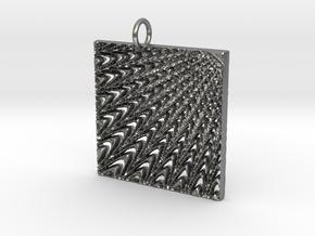 Web Pendant in Natural Silver