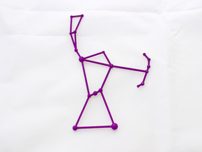 Orion Constellation Pendant in Purple Processed Versatile Plastic