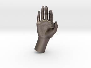 1/10 Hand 014 in Polished Bronzed Silver Steel