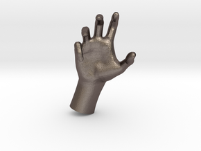 1/10 Hand 016 in Polished Bronzed Silver Steel