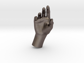 1/10 Hand 030 in Polished Bronzed Silver Steel