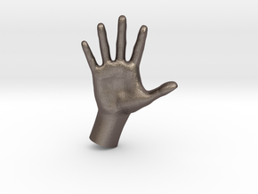 1/10 Hand 028 in Polished Bronzed Silver Steel