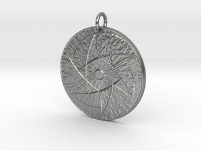 Infinite Eye Pendant in Natural Silver