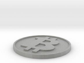 Fake Bitcoin Piece in Metallic Plastic