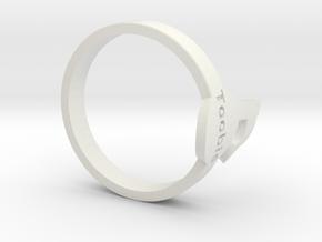 Toobis TagPro Ring in White Strong & Flexible