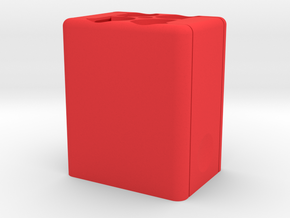 Square Speedlight Speed Loader in Red Strong & Flexible Polished