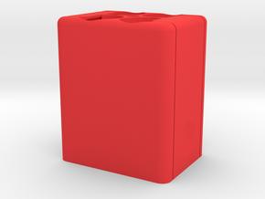 Square Speedlight Speed Loader in Red Processed Versatile Plastic
