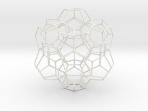 """Spirit Molecule 4.8"""" in White Natural Versatile Plastic"""