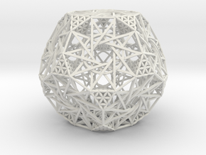 Truncated Hyper-Dodecahedron in White Strong & Flexible