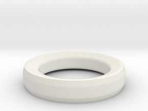 Prototype Ring Design 1 for RFID Tag in White Natural Versatile Plastic