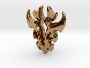 Antler Pendant in Polished Brass