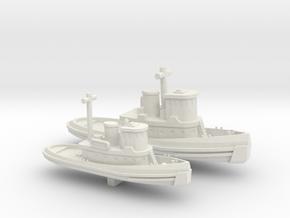1/700 Scale Vietnam Era US Army LT & ST Tugs in White Natural Versatile Plastic