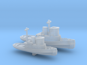 1/600 Scale Vietnam Era US Army LT & ST Tugs in Smooth Fine Detail Plastic