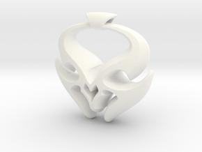 Sheep Horns Pendant in White Processed Versatile Plastic
