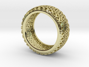 Tire Band ring in 18K Gold Plated