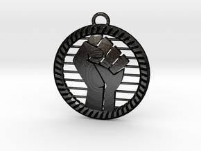 Power Fist in Matte Black Steel