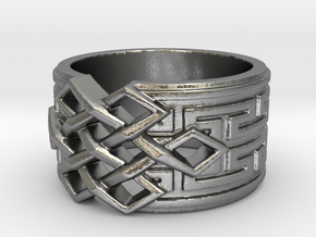 Endless Knot Ring (Multiple Sizes) in Natural Silver