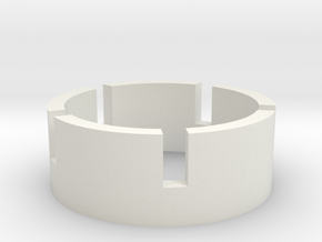 Hot Race 1/10 Front wheel reinforcement in White Strong & Flexible