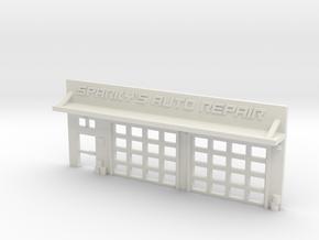 6mm Facade - Auto Shop in White Strong & Flexible